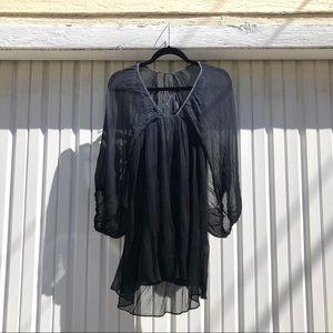 Jen's pirate booty navy gradient ombré silk dress